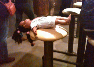 Doll at Chipotle