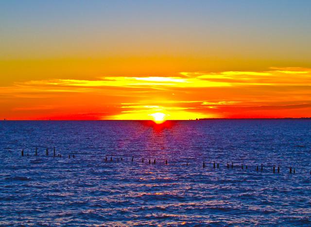 Kemah Boardwalk Sunrise HDR 12