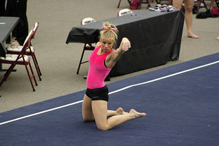 TWU Gymnastics Floor - Brittany Johnson | by Erin Costa