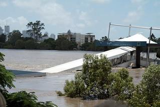 Brisbane Flood - Regatta Ferry Terminal