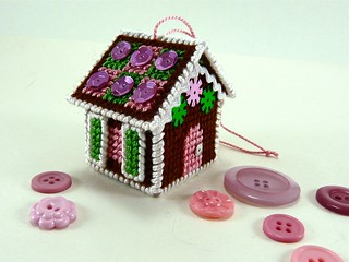 Needlepoint Gingerbread House Ornament | by CraftyPod