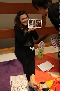 aunt megan unwrapping an xmas card featuring her nephews - MG 5841.JPG | by sean dreilinger