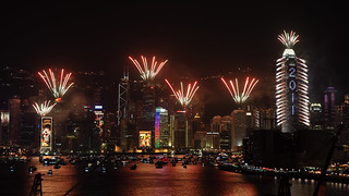 New Year's Eve 2011 Countdown Fireworks, Hong Kong | by Dickson@flickr