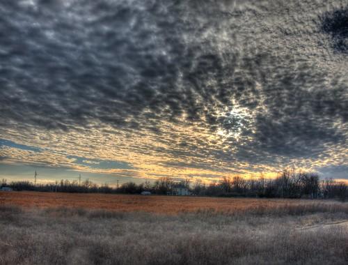 winter light cloud field clouds season landscape golden bc muskogee