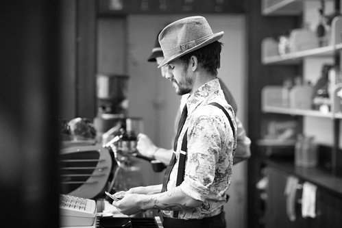 Stumptown barista at the Ace Hotel | by Matt Biddulph