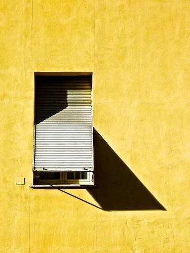 light texture window yellow shadows plaster shutter