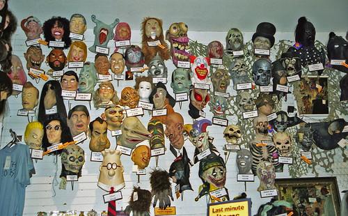 Halloween masks, Sacramento   by exfordy