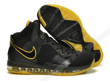 quality design 06b27 db56b ... Nike Air Max LeBron 8 VIII Black / Black - Metallic Gold | by blairlin97