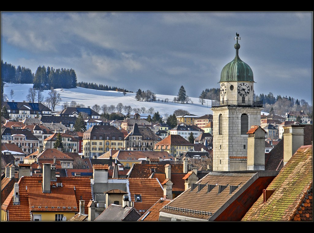 La Chaux De Fonds In The End Of The Winter The City In Th Flickr