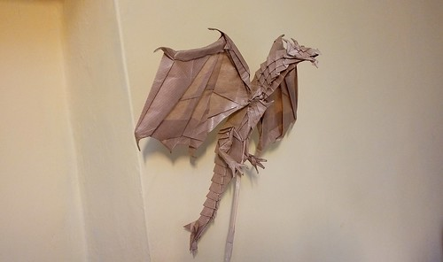 Alduin- The World Eater by Kamiya Satoshi, folded by me | by Tomasz Krawczyk Origami