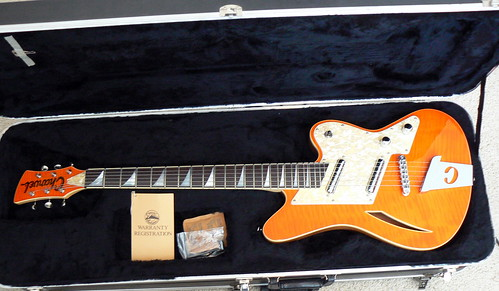 1993 Quilted Orange Charvel Surfcaster | by donrownrocks