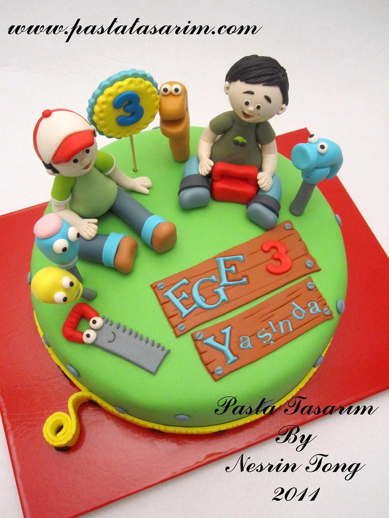 Peachy Handy Manny Cake Ege Birthday Pastatasarim Com Cake By Birthday Cards Printable Inklcafe Filternl