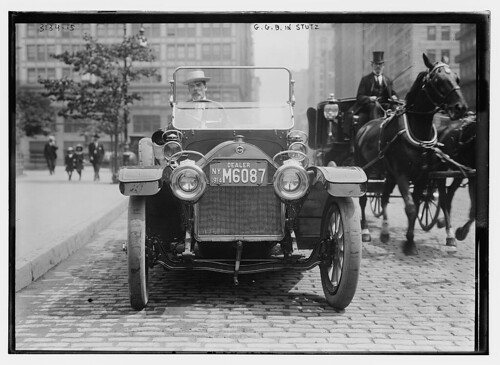 G.G.B. [i.e., George Grantham Bain] in Stutz  (LOC) | by The Library of Congress