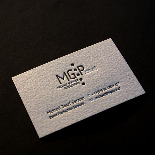 Letterpress Visitenkarten Letterpress Visitenkarte Einfarb