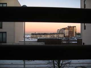 Sunset behind bars   by Ravenbait