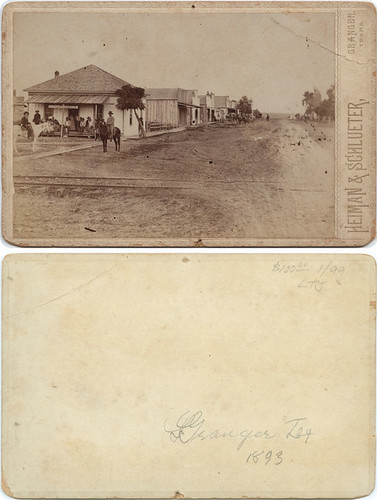 [Town view, Granger, Texas] | by SMU Libraries Digital Collections