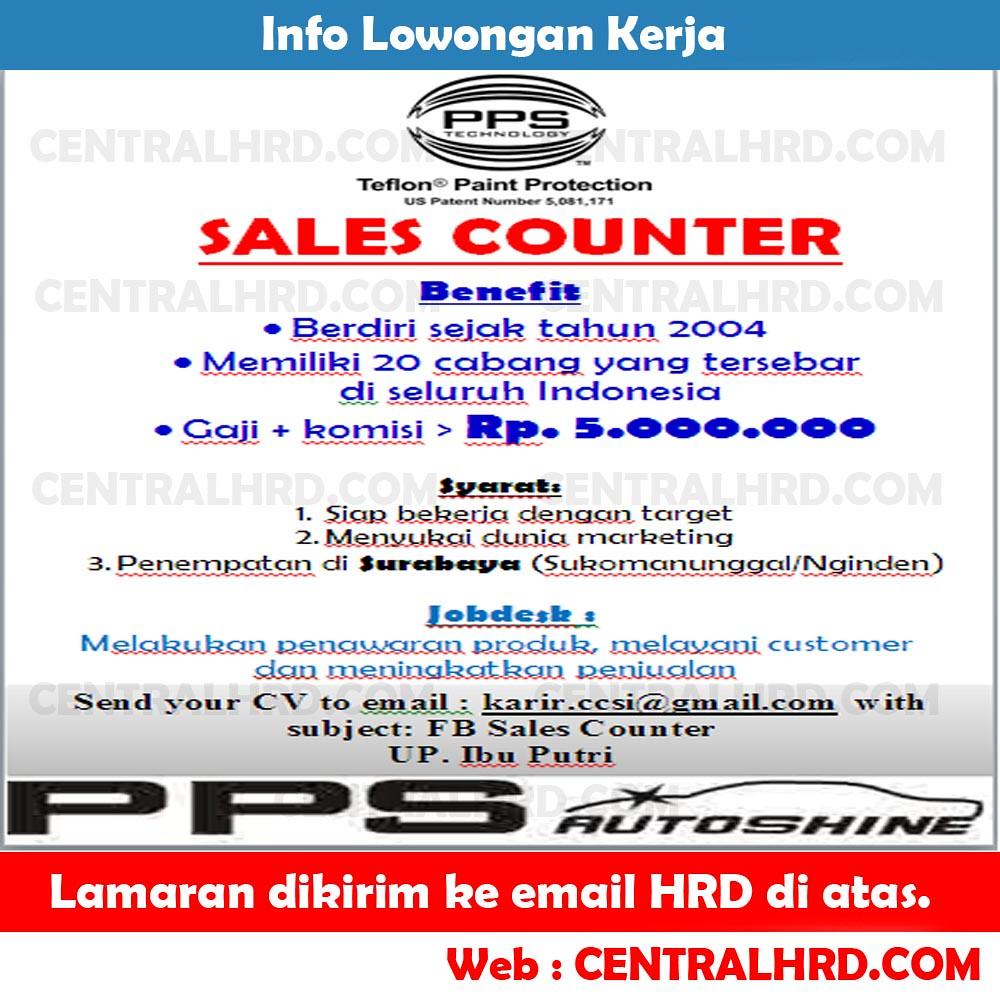 Lowongan Kerja Sales Counter Teflon Paint Protection | Flickr