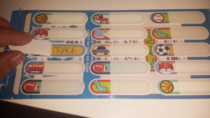 Labels   Having easy to apply, waterproof labels that stick