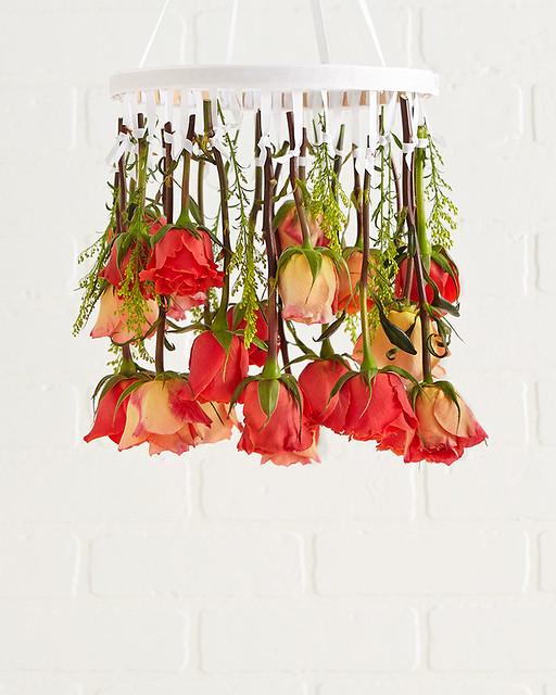 hanging rose chandelier