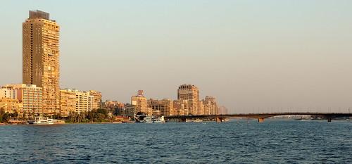 nikon coolpix p520 giza egypt nature outdoor yellow blue brown white sky water nile river bridge car building نهر النيل