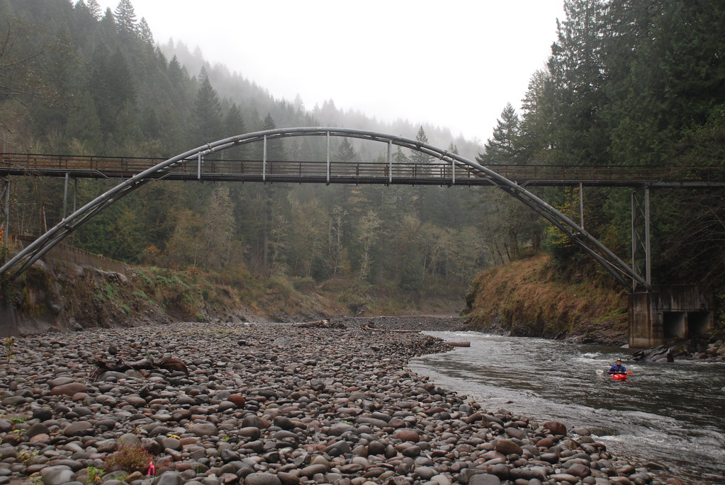 Sandy River at former Marmot Dam site