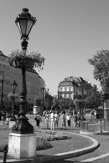 Looking across to the Carlton Hotel, Bratislava, Slovakia