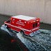 Ambulance Drives in Los Angeles River by LAFD