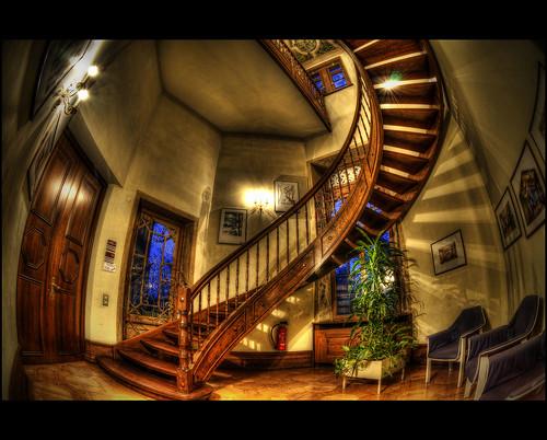 house building castle architecture photoshop germany deutschland nikon haus fisheye staircase schloss hdr topaz historisch württemberg d90 photomatix supershot hemmingen nikond90 strohgäu hdrterrorist kemoauc