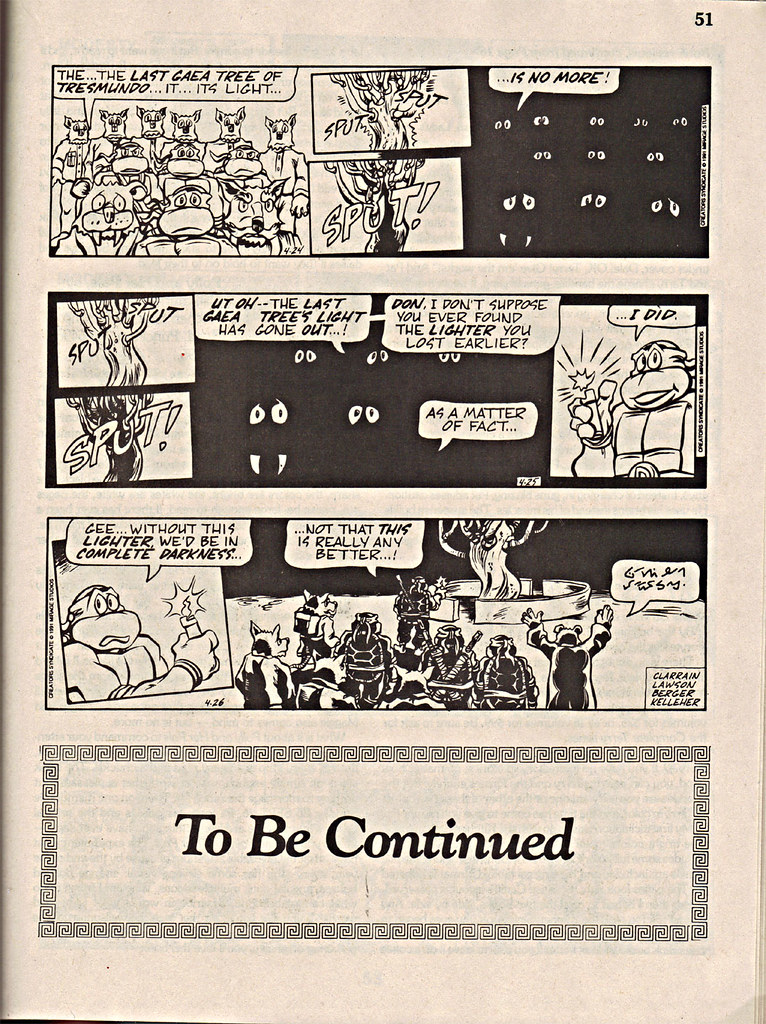"ComicsReview #62 :: 'Teenage Mutant Ninja Turtles' { newspaper strip } 0424-04261991,  "" The Last Gaea Tree""  pg.51 (( 1991 )) by tOkKa"