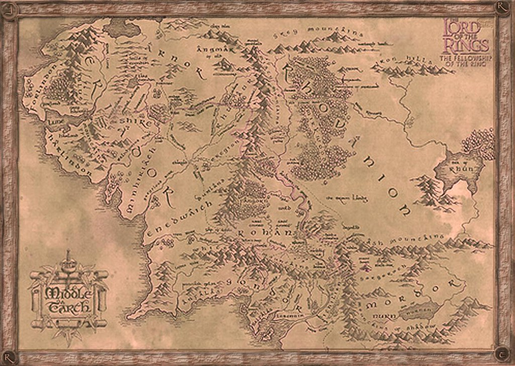 Map of Middle Earth | Fangorn, Gondor, Isengard, Mines of Mo… | Flickr