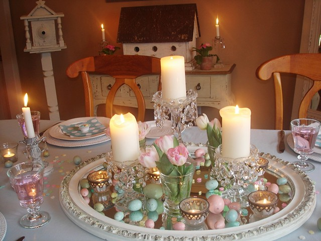 Easter Decorating Dining Table Centerpiece Pretty Pastel P Flickr
