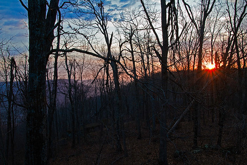 mountains arkansas sunrises