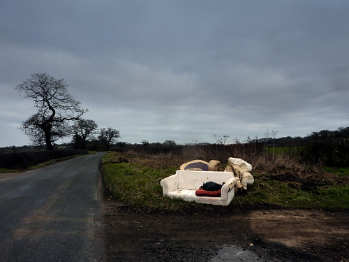 Fly-tipping a sofa and armchairs | by allispossible.org.uk