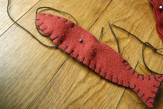 blanket stitch magnet fish | by by hand at home
