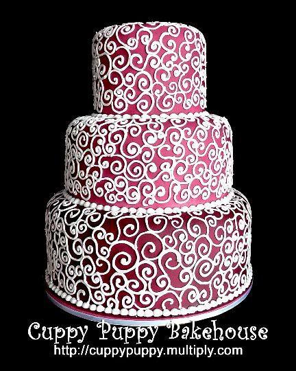 3layer Birthday Cake With Swirls