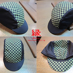 ENISHI Hand Made Cycle Cap Checkerboard Pattern Leaf Green → SOLD OUT