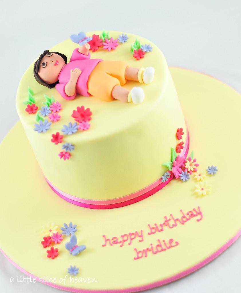 Amazing Dora Cake Blogged On Alsoheaven Blogspot Com Jen Flickr Birthday Cards Printable Benkemecafe Filternl