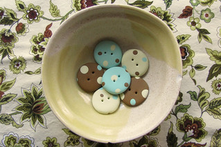 Polka Dot Focal Buttons