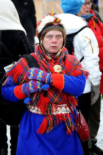 A Saami woman in a national costume, Tromsø / Norway | by ANJCI ALL OVER