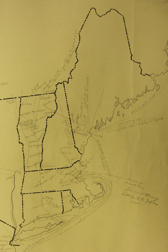 Detail from [Underground railroad map of the United States ...