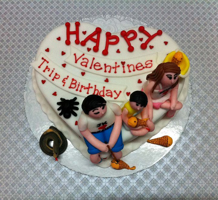 Superb Valentine Birthday Cake For Jk Sweet Creamz Flickr Funny Birthday Cards Online Elaedamsfinfo