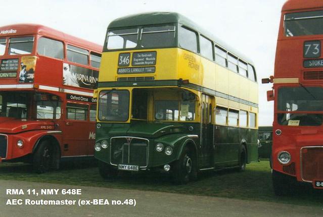 RMA 11, NMY 648E, AEC Routemaster (1), Park Royal Body H32-24F, 1967
