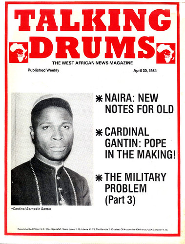 talking drums 1984-04-30 New Naira notes - Cardinal Gantin - the military problem