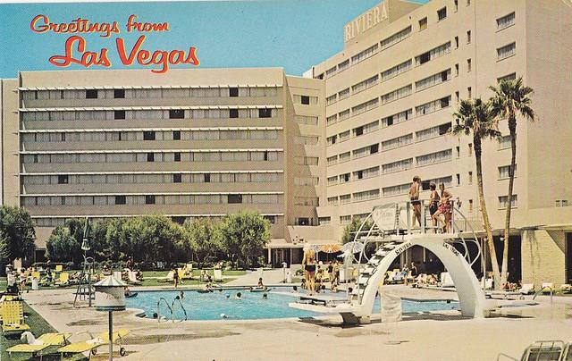 Riviera Hotel Las Vegas postcard