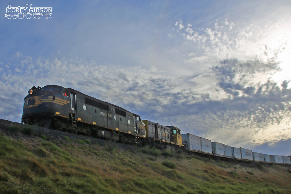 A71 & H1 with the up 9204 Warrnambool freight service by Corey Gibson