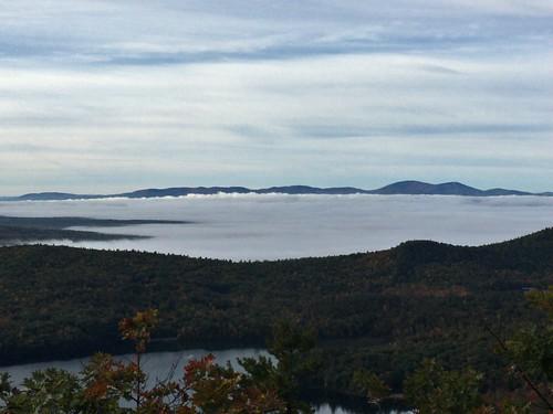 Views from Mt Sentinel - fog over Winnipesauke | by bcusolito