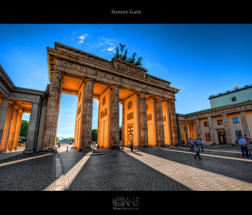 travel sunset red vacation orange holiday colour berlin history tourism colors sunshine yellow photoshop germany logo geotagged photography nikon colorful colours wideangle brandenburggate bluesky historic journey blended handheld colourful brandenburgertor dri deu hdr highdynamicrange watermark hdri blend pariserplatz superwideangle niceweather 10mm postprocessing dynamicrangeincrease ultrawideangle d90 photomatix digitalblending wasserzeichen tonemapped tonemapping watermarking detailenhancer topazadjust topazdenoise klausherrmann topazsoftware sigma1020mmf35exdchsm topazphotoshopbundle topazinfocus geo:lat=5251616863 geo:lon=1337816656