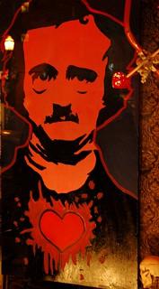 Happy Valentine's Day Edgar Allan Poe, love and death,  Gargoyle, U District, Seattle, Washington, USA | by Wonderlane
