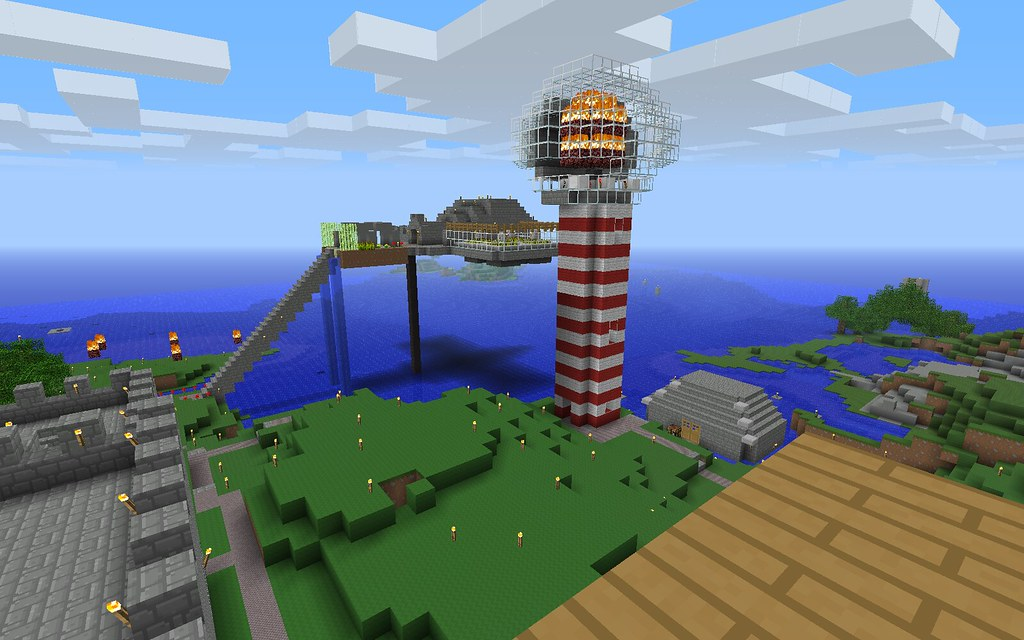 Sky Fortress Lighthouse Team Awesome Minecraft Flickr