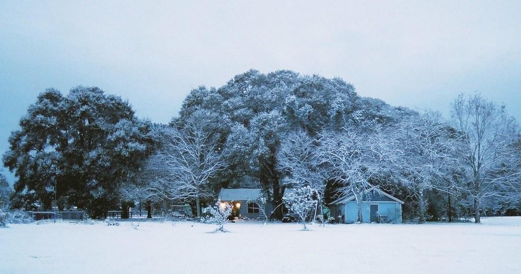 Real Snow Began After Dark >> Christmas Snow It Began On Christmas Eve After Dark And Sn Flickr